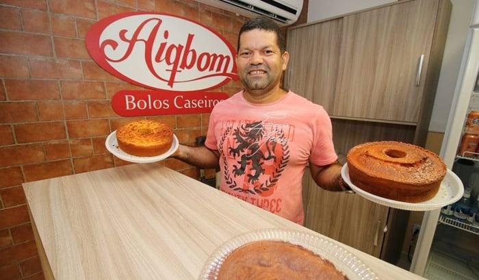 Joel Pereira - Sucesso com bolos caseiros