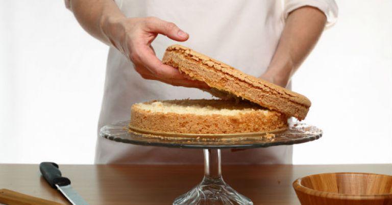 como cortar bolo para rechear