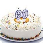 bolo para aniversário de 60 anos