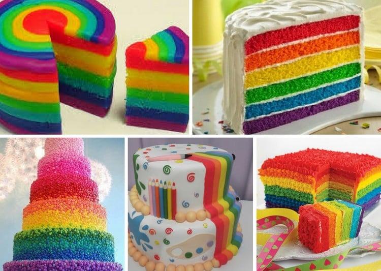 receita de bolo colorido