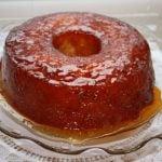bolo de aipim caramelizado
