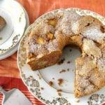 bolo de maçã com casca