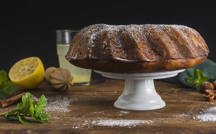 bolo de limão vegano